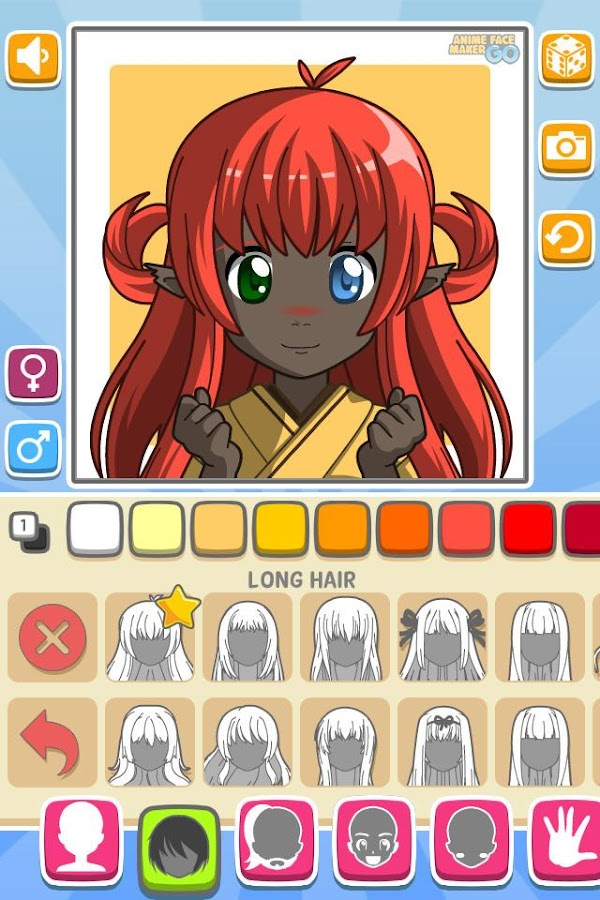 Anime Face Maker GO FREE Screenshot