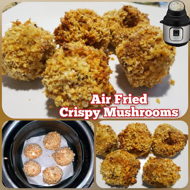 Air Fried Crispy Mushrooms