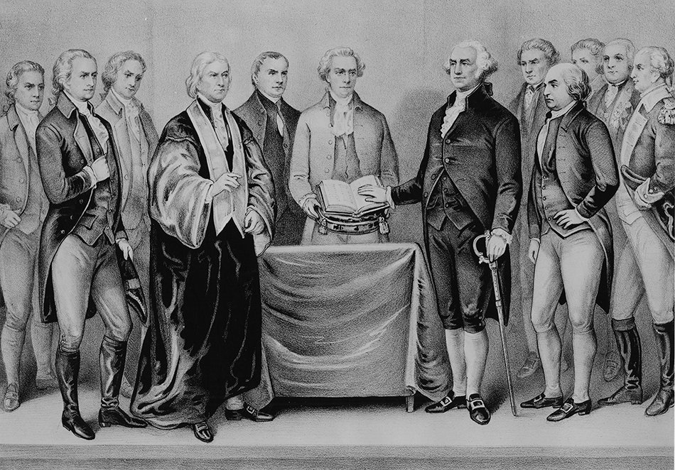 Washington 1789 Swearing In
