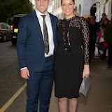 WWW.ENTSIMAGES.COM -   Daniel Riley and  Claire Sweeney     at          BBC Children in Need Gala Lunch at The Savoy, Strand, London                                               Photo Mobis Photos/OIC 0203 174 1069