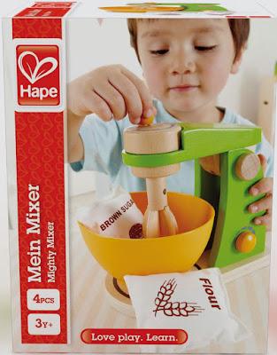Máy đánh trứng đồ chơi gỗ Hape Mighty Mixer