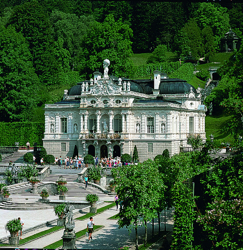 Linderhof Palace. From Driving the Alpine Road in Germany