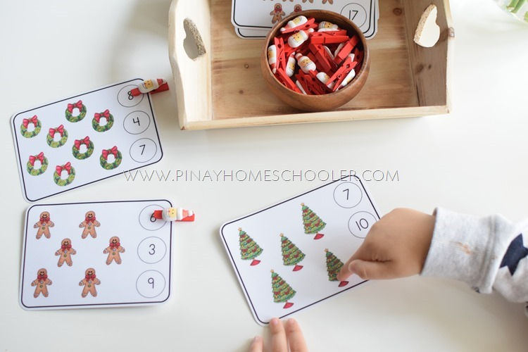 Christmas Preschool Math Activities