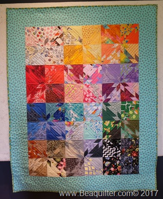 Rainbow hunter star quilt1
