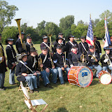 Michigan 5th Regimental Band at attention prior to battle