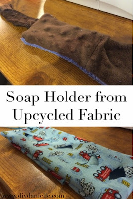 How to sew an easy soap holder from upcycled fabric to keep kids from dropping the soap in the bath.