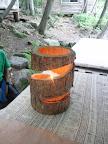 木のローソク