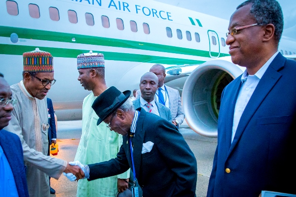 Photos: President Buhari, Arrive New York For UNGA