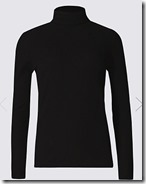 Marks & Spencer roll neck ribbed top