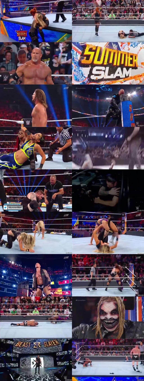Screen Shot Of WWE SummerSlam 11th August PPV 2019 HDTV 480P 300MB