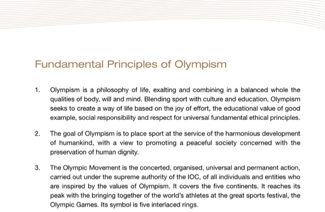 Sport Friendship And The Olympics Reflections On Mclaren Report