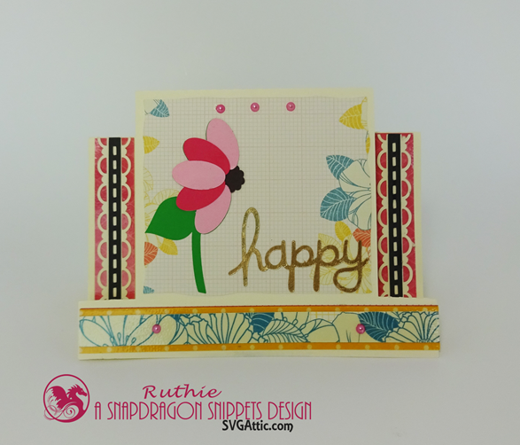 SnapDragon Snippets, Mothers Day Flower Step Card, Ruthie Lopez