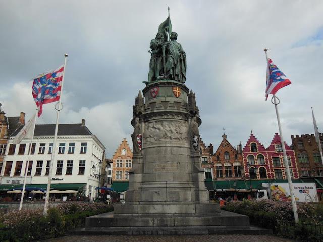 Estatuas de Jan Breydel y Pieter De Koninck