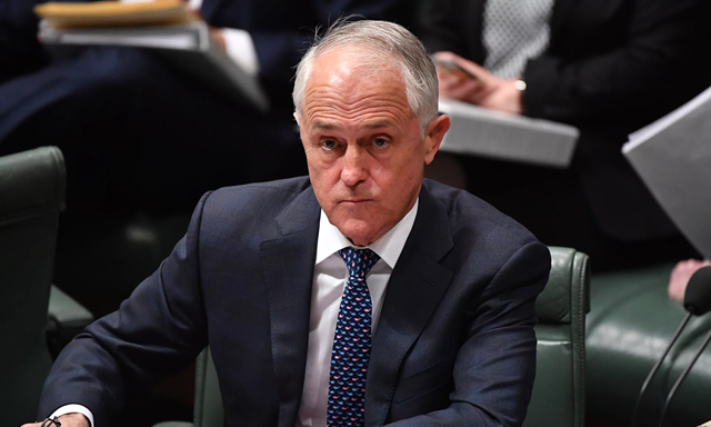 Australian prime minister Malcolm Turnbull during question time on Monday, 20 August 2018, after he announced he was all but abandoning his energy policy. Photo: Mick Tsikas / EPA