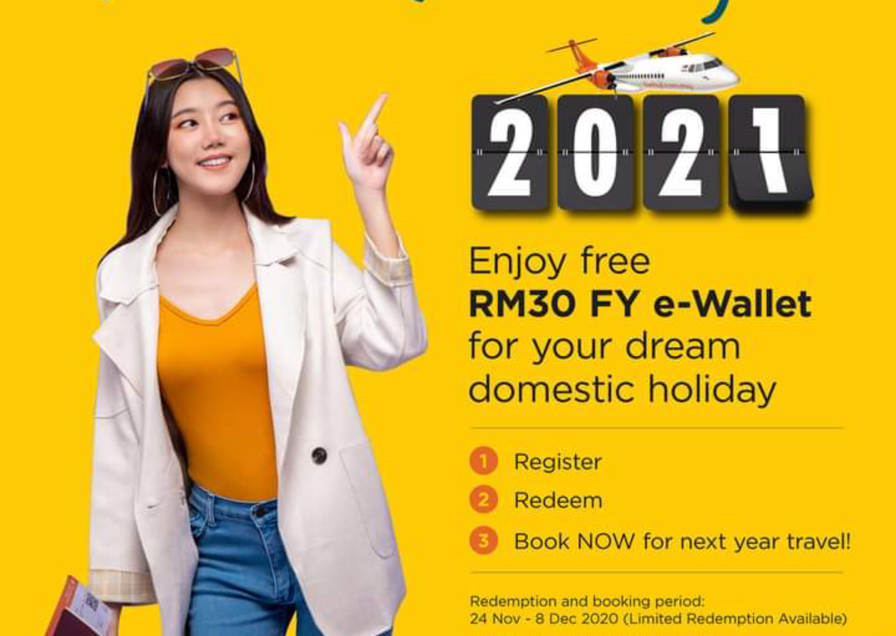 Free RM30 FY e-wallet for Cuti Malaysia Stimulus - Firefly