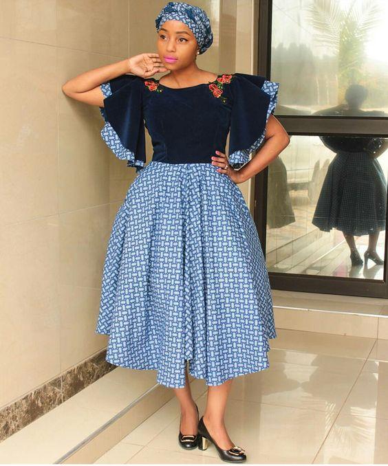 LESOTHO SHWESHWE DRESSES STYLES 2
