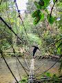 Jeff Wade on the Rope Bridge at Lubang Cina, Mulu 2013 | photo © Andy Harp