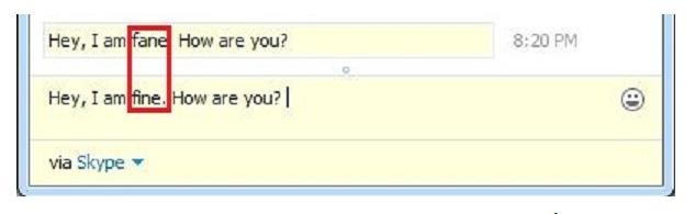 Sửa nhanh tin nhắn đã gửi trước ở Skype chat