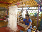 The weaving center is full swing