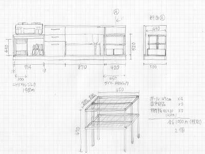 キッチンシンク下収納計画