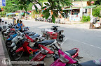 Scooters in the main road