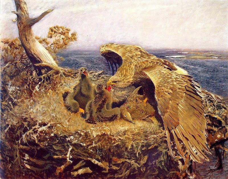 Bruno Liljefors - Sea Eagles Nest