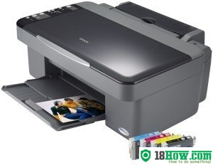 How to reset flashing lights for Epson DX4200 printer