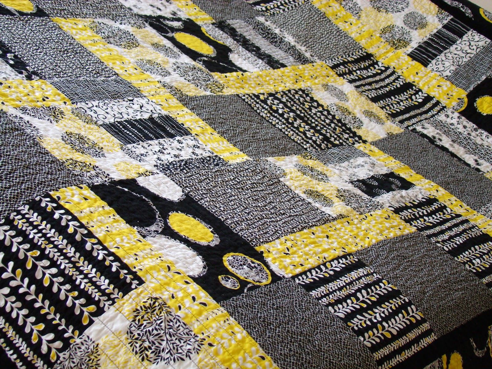 Quilt Black Yellow Grey On Pinterest Baby Quilts