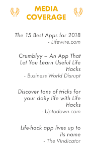 Crumblyy: Life hacks, ideas for self improvement Screenshot