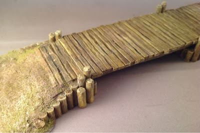 SAGA Welsh army project #10 - Terrain: Ironclad miniatures bridge
