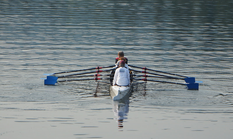 first two crew rowing