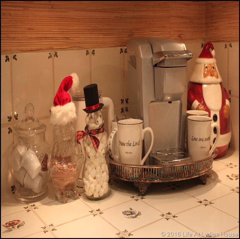 winter beverage station