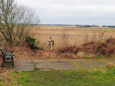 Bench marks the position of the former Walberswick station