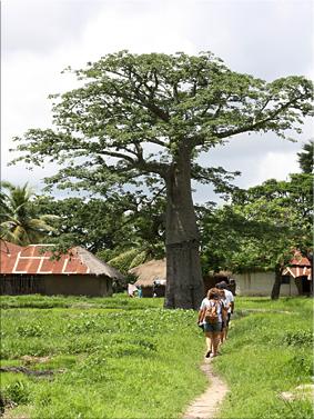 Paseando por el poblado - Isla de Djilapao