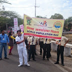 Rally to Spread Awareness on World Population Day (Grade III to VIII) 11-07-2014