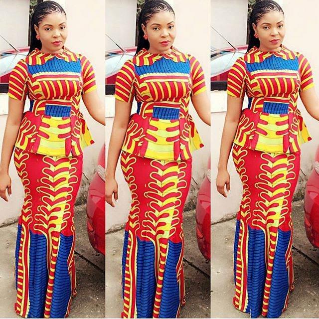10 ankara skirt and blouse styles 2017 + 2018