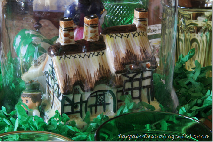 Irish Cottage for St. Patrick's Centerpiece