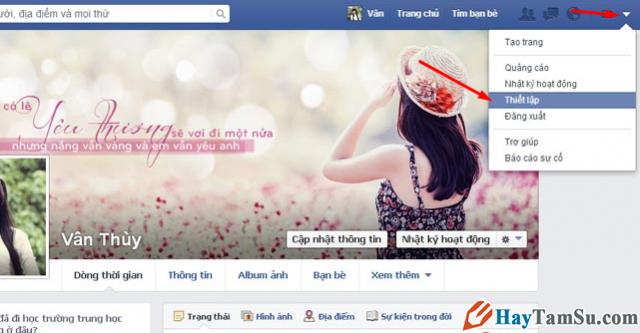 thiết lập facebook