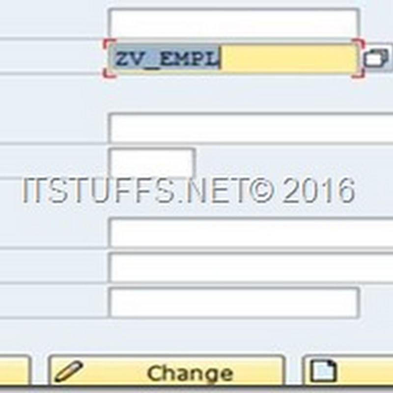 Database View Creation in ABAP Dictionary
