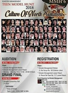 cara mendaftar audisi model teen model hunt 2018 culture north sumatera