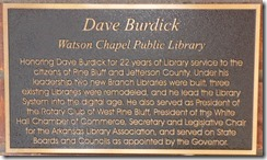 Watson Chapel Library Plaque
