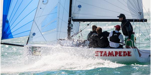 J70 sailing fast downwind