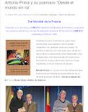 Antonio Prima y su poemario 'Desde el mundo sin ira'