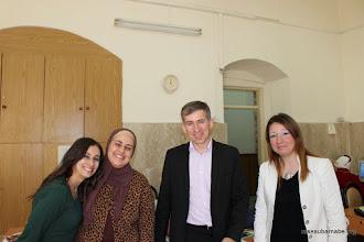 Photo: Avec les professeurs de français de l'école latine à Naplouse