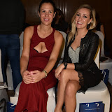 OIC - ENTSIMAGES.COM - Zoe Griffin and Larissa Eddie at the   Nina Naustdal - catwalk show  as Oslo born designer exhibits her aw 2015 couture - ss 2016 and childrens wear collections in collaboration with MTV Staying Alive Foundation in London 27th September 2015 Photo Mobis Photos/OIC 0203 174 1069
