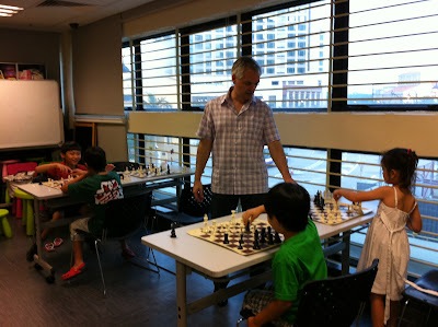 Mei Jing and Jay play against teacher