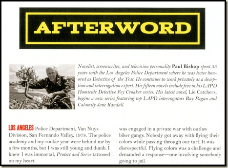 Paul Bishop Afterword