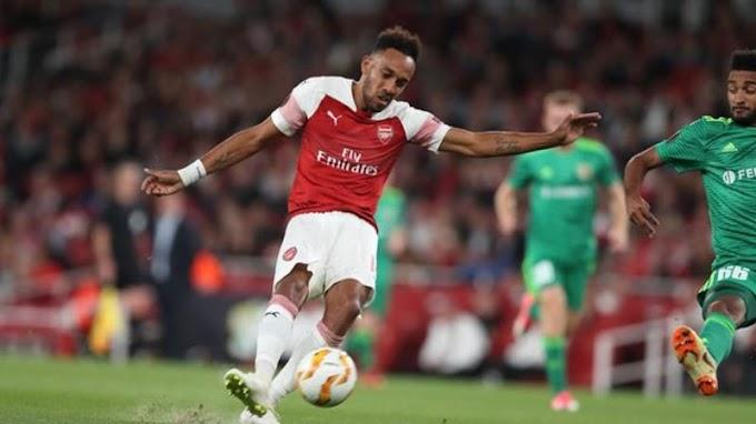 GUNNERSSS!!! Aubameyang, Welbeck, Ozil Score As Arsenal Beat Vorskla 4 – 2 (Goals Highlight)