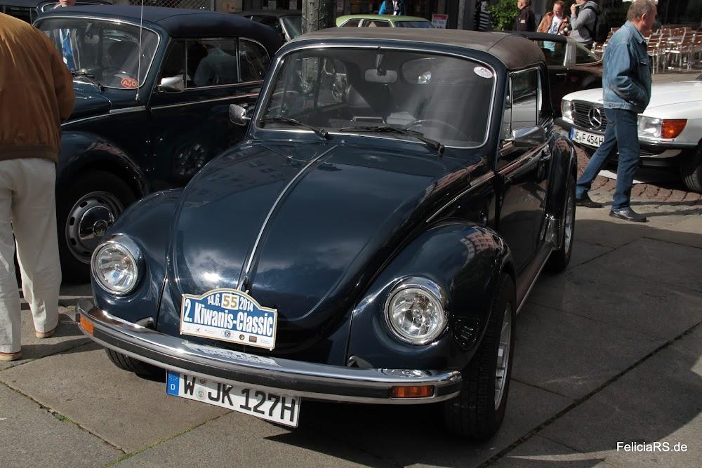 Startnummer 57 Volkswagen Käfer Cabrio 1977 noch mit dem Schild vom Vorjahr ;-)