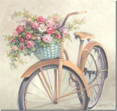 imágenes de bicicletas con flores (18)